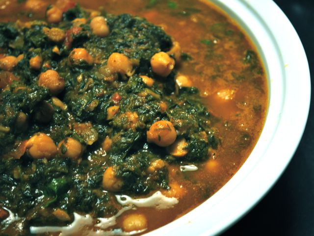 easy channa saag