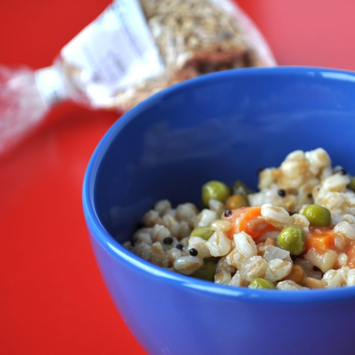Post image for South Indian Style Farro with Carrots and Peas